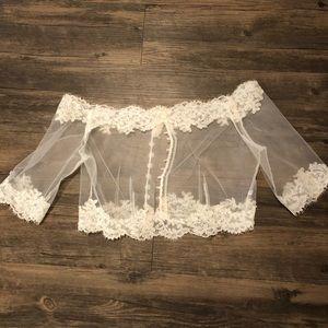 bridal lace wedding topper.